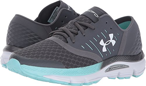 Under Armour Women's UA Speedform Solstice Rhino Gray/Blue Infinity/White Athletic - White Solstice