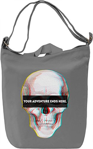 Your Adventure Ends Here Borsa Giornaliera Canvas Canvas Day Bag| 100% Premium Cotton Canvas| DTG Printing|