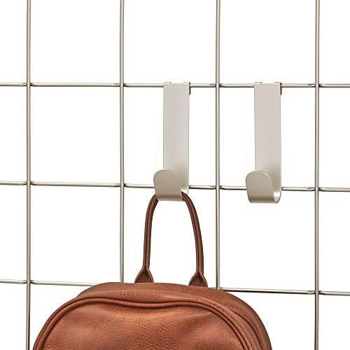 iDesign Jayce Metal Single Hook for Modular Grid Wall System, Storage Hanger for Kitchen, Bathroom, Bedroom, Office, Basement, Garage, Satin (Best Toilet For Basement)