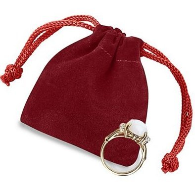 2 X 2.5 Red Velvet Drawstring Pouch for Jewelry, Gifts, Small Handmade items,or Party and Wedding Favours Life Solutions Products