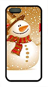 iPhone 5 5S Case Snowman christmas gifts TPU Custom iPhone 5 5S Case Cover Black