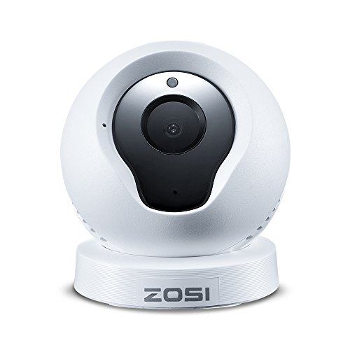 ZOSI ZP331Q2-W-US Q2 Wireless IP Cameras Baby Monitor and Home Security Camera,720P HD,IP Camera,P2P Network Camera Video Monitoring, Night Vision/Motion Detection/PC iPhone Android View, White