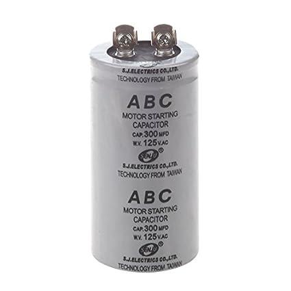 SODIAL(R) AC 125V 300uF 300MFD 2 Terminales Condensador de arranque del motor de pelicula de polipropileno: Amazon.es: Amazon.es