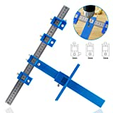 IsEasy Punch Locator Drill Guide, Drill Guide Sleeve Cabinet Hardware Jigs, Wood Drilling Dowel Ruler for Installation of Handles