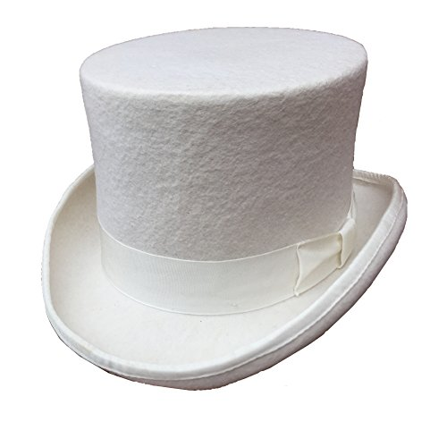 Wool Felt White Top Hat 5 in Crown (L = 59cm (7 3/8))