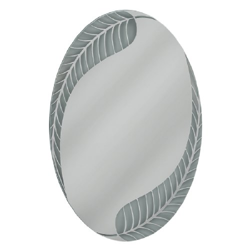 Head West Palm Leaf Oval Mirror, 23 by 35-Inch