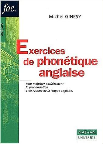 Livres gratuits en ligne Exercices de phonétique anglaise pdf ebook