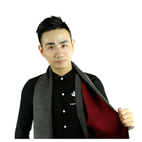 christmas-gerger-bo-men-s-korean-version-solid-color-double-sided-collar-shawl-scarfgrey