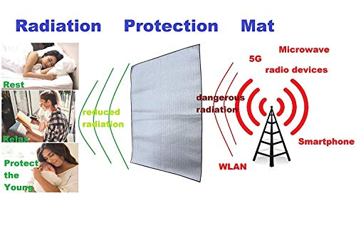 "EMF EMR Radiation Protection Shield Mat – 60"" x 80"" inch Approx. – 150 x 200 cm - (Protects f.e. from Smartphone, Cell Phone Radiation, G5, G4, G3 etc, Microwave, Wireless, W-LAN, Radio, Satellite)"