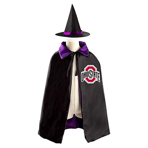 Ohio State Brutus Costume (DBT Ohio-State Logo Childrens' Halloween Costume Wizard Witch Cloak Cape Robe and Hat)