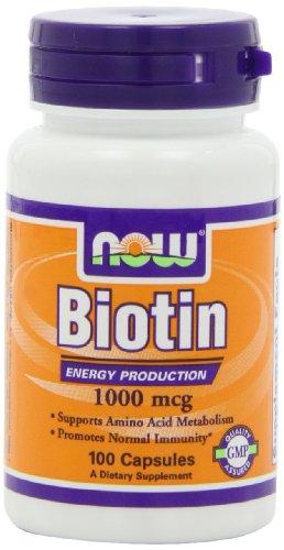 NOW Biotin 1000mcg Capsules Pack