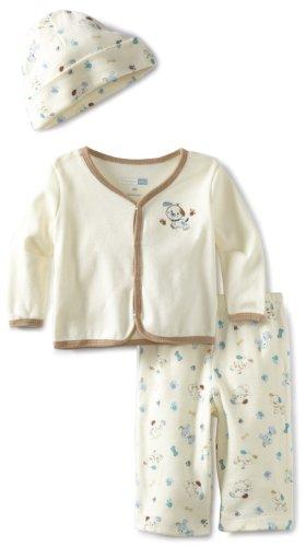 UPC 762061856858, Vitamins Baby-Boys Newborn 3 Piece Cardigan Pant Set Little Pup, Ivory, 3M