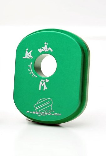 PasswordJDM Billet Aluminum Ignition Cylinder Cover X-Rated - Green Compatible with Honda Ruckus/Zoomer