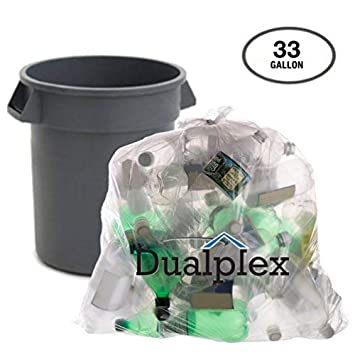 Amazon.com: dualplex Claro bolsas de basura de reciclaje by ...