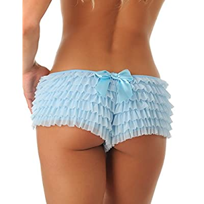 Velvet Kitten Sexy Boy Short Panties for Women with Ruffles and Bow at  Women's Clothing store