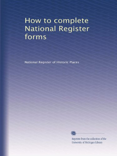 Books : How to complete National Register forms