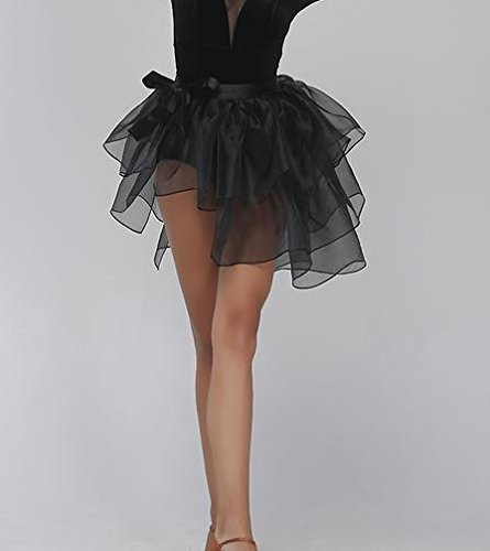 Woman's Latin dance tutus / black dance apron skirt by JINGYU