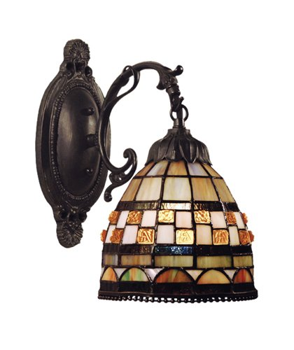 Jewelstone 1 Light (Elk 618-Cb Jewel Stone 1-Light Sconce, 12-Inch, Classic Bronze)
