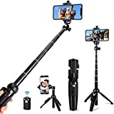 Shan-S Selfie Stick,Phone Tripod Mount Holder Extendable Self Wireless Remote Stick Monopod Tripod Stand Holder for iPhone 11/11 Pro/11 Pro Max/XS/XS Max/XR/X/8/8+ and More