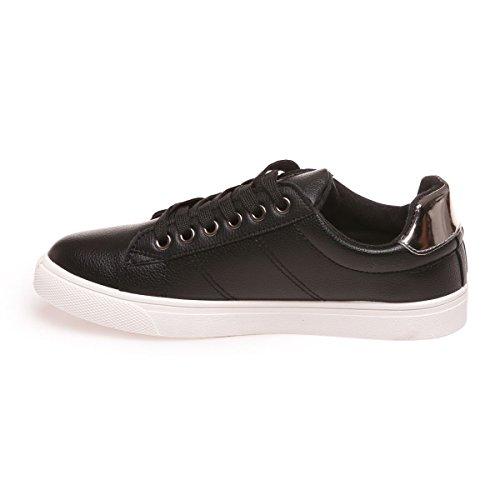 para Modeuse La Zapatillas deporte negro de mujer 64qCTwq