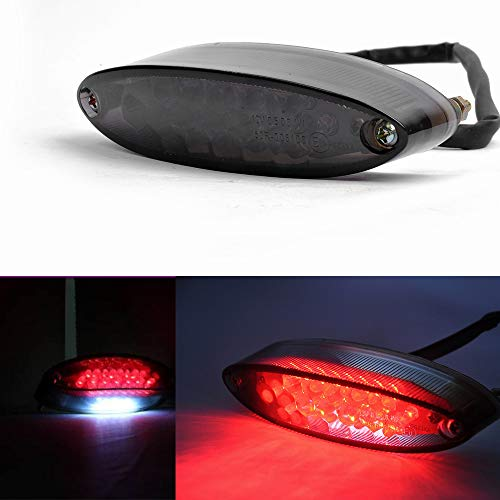 (Evomosa Universal 28 LEDs Motorcycle LTZ ATV Tail Light Turn Signals Brake Stop Lights For Suzuki Harley Davidson Honda Kawasaki Triumph BMW DR DRZ 650 400 (Smoke))