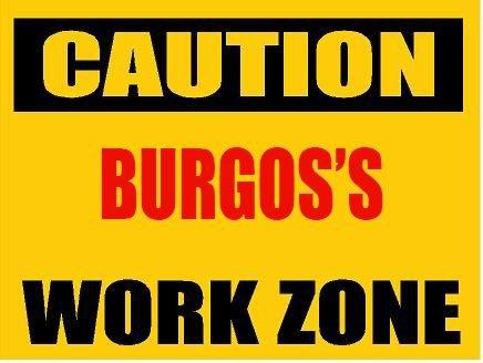 Amazon.com: CAUTION BURGOS WORK ZONE computer desk mousepad ...