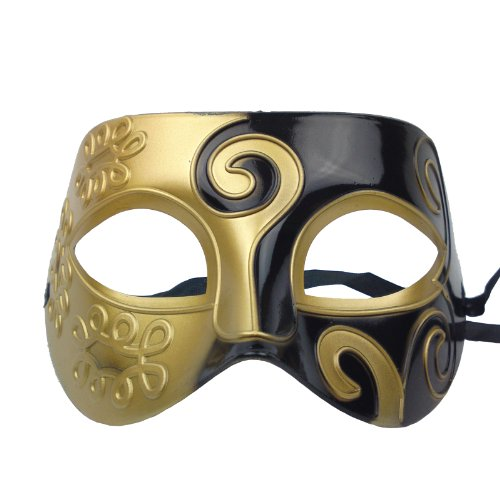 Nati Men's Masquerade Mask Color Gold Black - http://coolthings.us
