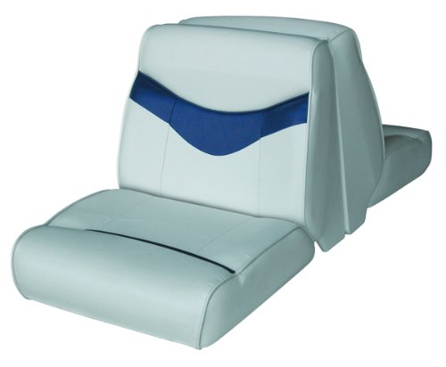 Wise Bayliner Capri and Classic Lounge Seat (Grey/Navy) (Lounge Wise)