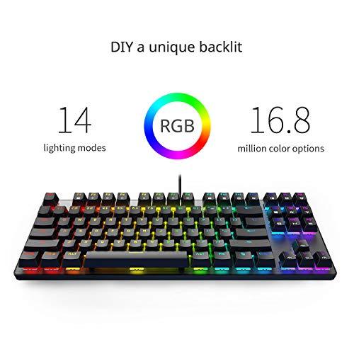 DREVO Tyrfing V2 87Key RGB Backlit Mechanical Gaming Keyboard Tenkeyless Programming Macro Media Control Software Support Outemu Linear Red Switch Black by DREVO (Image #2)