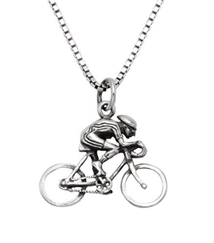 Sprint Road Bike - Sterling Silver Road Bike w/Racer Pendant w/18