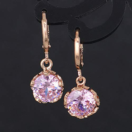 Endicot 1Pair Women CZ Crystal Jewelry Rhinestone Drop/Dangle Party Hoop Earrings Gift | Model ERRNGS - 16799 |