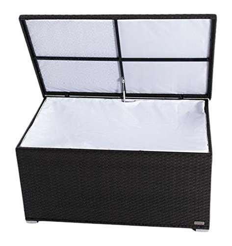 OUTFLEXX Kissenbox aus Polyrattan 144x92x70cm in braun