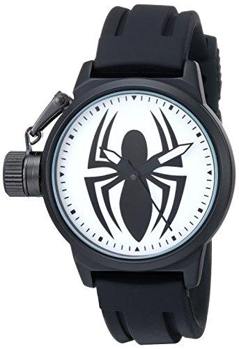 Marvel Men's W001750 Ultimate Spider-Man Analog-Quartz Black Watch
