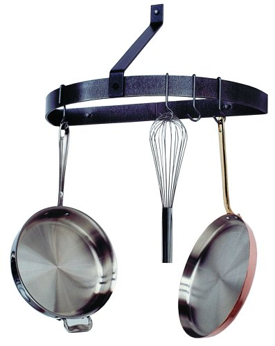 Enclume Round Pot Rack (Enclume PR9 HS Premier Wall Half Circle Pot Rack, Hammered Steel)