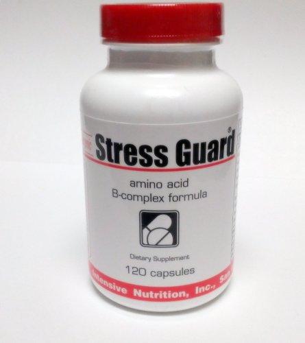StressGuard, complexe B, de potassium et à chaîne ramifiée acides aminés (L-leucine, L-isoleucine et L-valine) Formula - Support stress quotidien et la fatigue, 120 capsules végétariennes