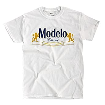 Modelo Logo - White T-shirt | Amazon.com