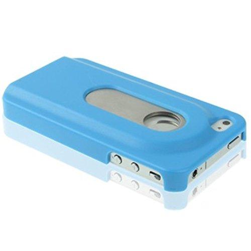 Schutzhülle Hard Case Flaschenöffner Hülle für Handy iPhone 4 & 4S Blau