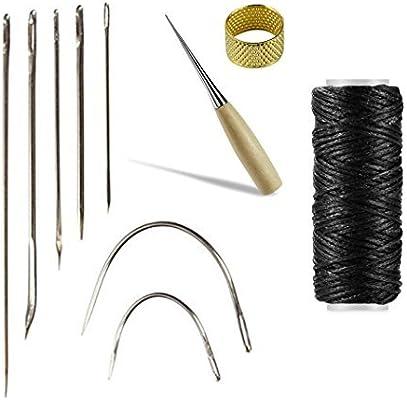 Piel Craft herramienta 10pcs Agujas para coser a mano