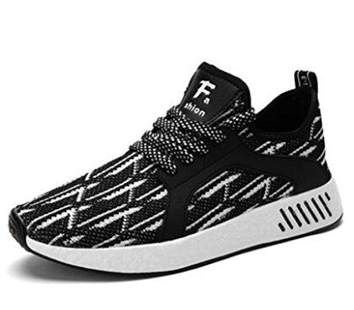 LFEU Respirant Running 39 Compétition Marché Basket Chaussure Sneakers Sport Chemin Noir Loisir Homme Sur Casuel 44 wzfgqrw