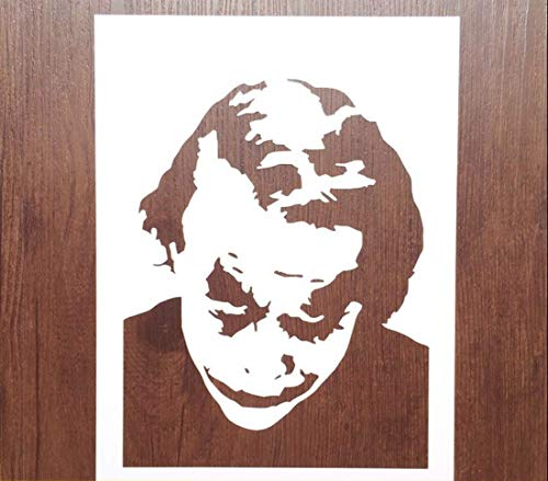 Zzooi Hollowed Out Joker Painting Airbrush Stencil Hollow Joker Drawing Template (Joker Painting Stencil)