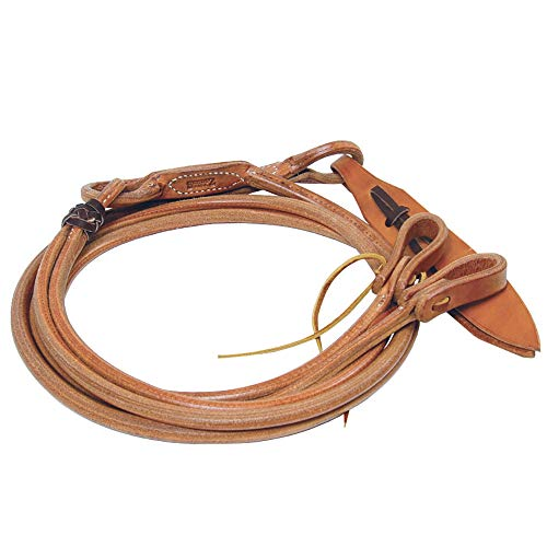 """3//4/"""" x 8/' Weaver Harness Leather Rounded Romel Rein with Popper End"""