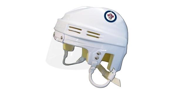 Amazon Com Sportstar Nhl Winnipeg Jets Replica Mini Hockey Helmet Home Sports Outdoors
