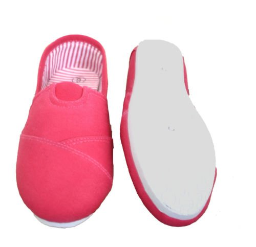 Slip On Pink Canvas Donna Dona Michi