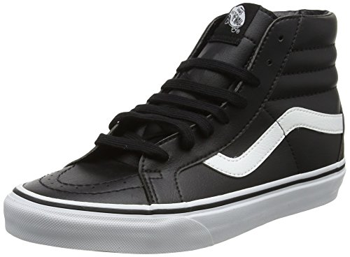 Vans Sk8-Hi Reissue Leather, Unisex Adults Trainers, Black (Classic Tumble/Black/True White), 10 M US (Black Tumble Leather)