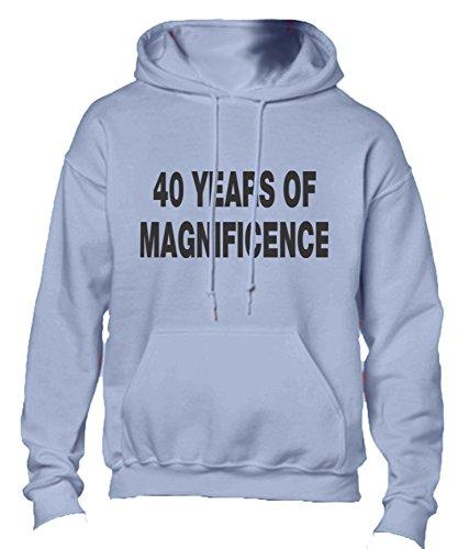40 Years Of Magnificence Adult Hoodie Hooded Sweatshirt Lt Blue Large