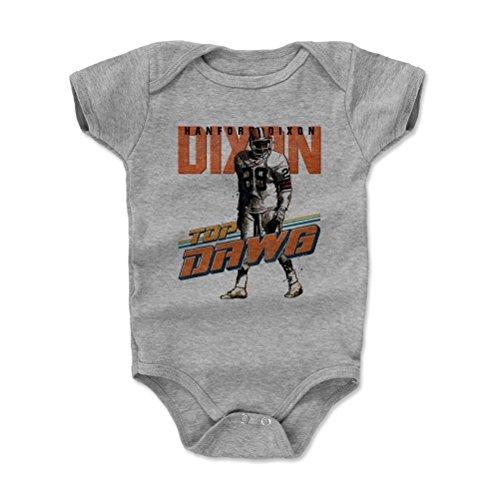500 LEVEL Hanford Dixon Baby Onesie 3-6 Months Heather Gray - Vintage Cleveland Football Baby Clothes - Hanford Dixon Dawg O - Newborn Cleveland Browns Bib