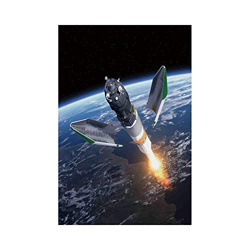 - Polyester Garden Flag Outdoor Flag House Flag Banner,Outer Space Decor,Launch of Cargo Spacecraft in Progress Rocket Takes off Cosmos Universe Photo,Black Grey Blue,for Wedding Anniversary Home Outdoo
