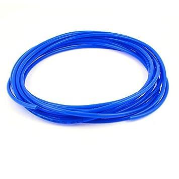 Poliuretano PU del compresor de aire de la manguera del tubo 7 Medidor de 6 mm x 4 mm azul real: Amazon.es: Bricolaje y herramientas