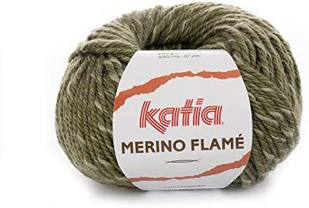 Katia Merino Flame FB. 109 – Militar, Aguja de Lana con algodón ...