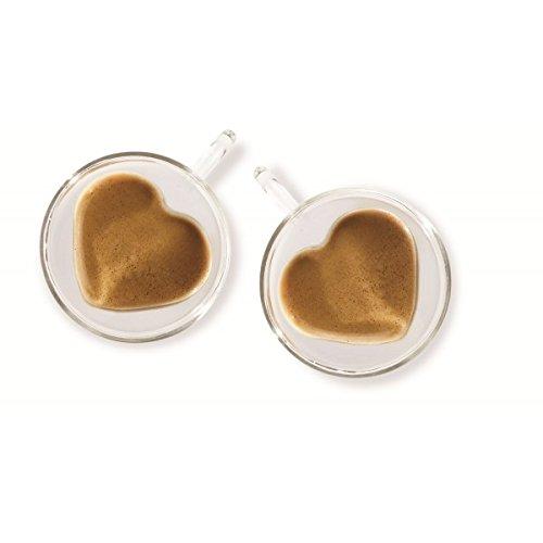 Brilliant - Double Wall Heart Espresso Cup 1.5 oz. Set of 2